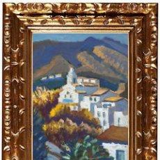 Arte: JORDI CURÓS VENTURA (OLOT 1930-2017), MIMOSA A CADAQUÉS, ÓLEO SOBRE TABLEX. Lote 143170570