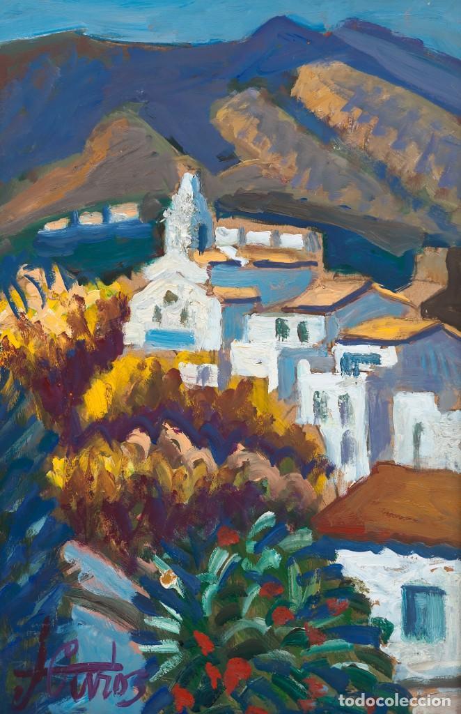 Arte: Jordi CURÓS VENTURA (OLOT 1930-2017), Mimosa a Cadaqués, Óleo sobre tablex - Foto 2 - 143170570