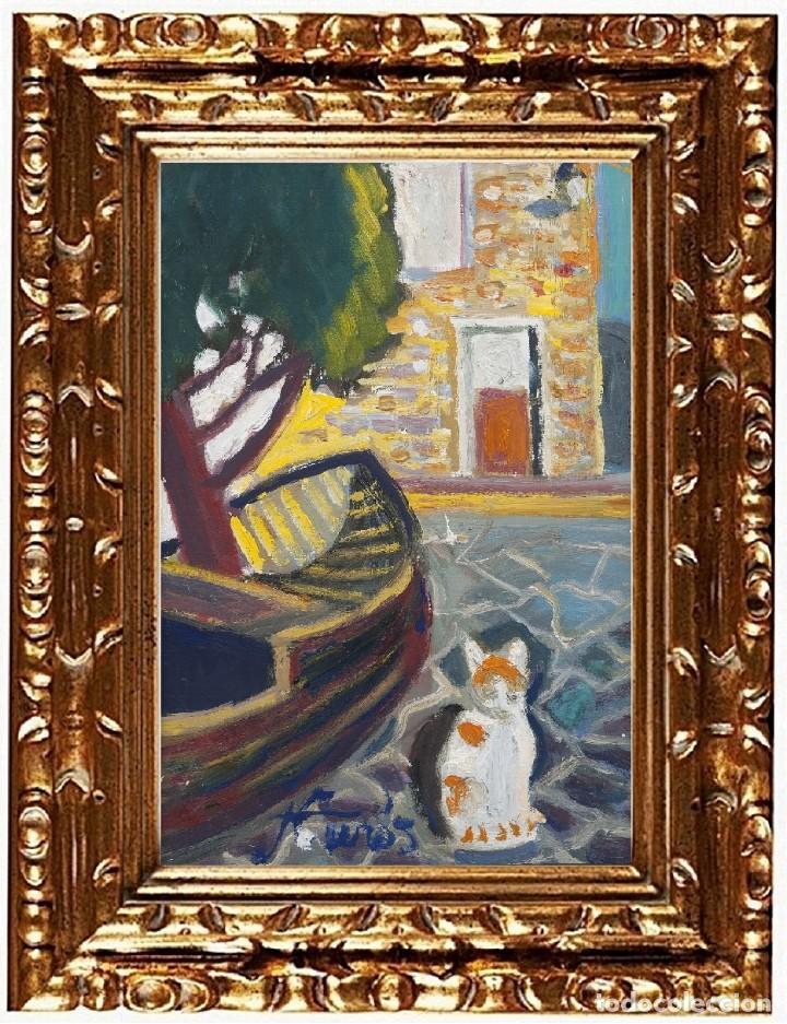JORDI CURÓS VENTURA (OLOT 1930-2017), PORT LLIGAT, ÓLEO SOBRE LIENZO (Arte - Pintura - Pintura al Óleo Contemporánea )