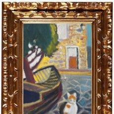 Arte: JORDI CURÓS VENTURA (OLOT 1930-2017), PORT LLIGAT, ÓLEO SOBRE LIENZO. Lote 143174350