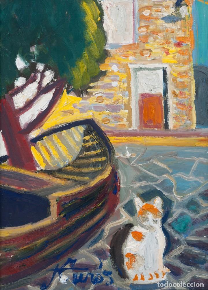 Arte: Jordi CURÓS VENTURA (OLOT 1930-2017), Port LLigat, Óleo sobre lienzo - Foto 2 - 143174350