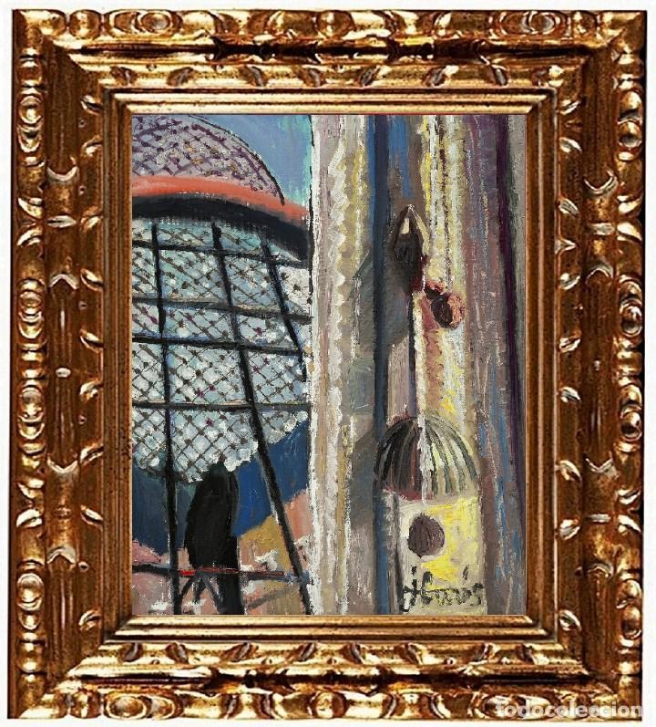 JORDI CURÓS VENTURA (OLOT 1930-2017), HOMENAJE A DALÍ, ÓLEO SOBRE LIENZO (Arte - Pintura - Pintura al Óleo Contemporánea )
