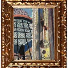 Arte: JORDI CURÓS VENTURA (OLOT 1930-2017), HOMENAJE A DALÍ, ÓLEO SOBRE LIENZO. Lote 143175878