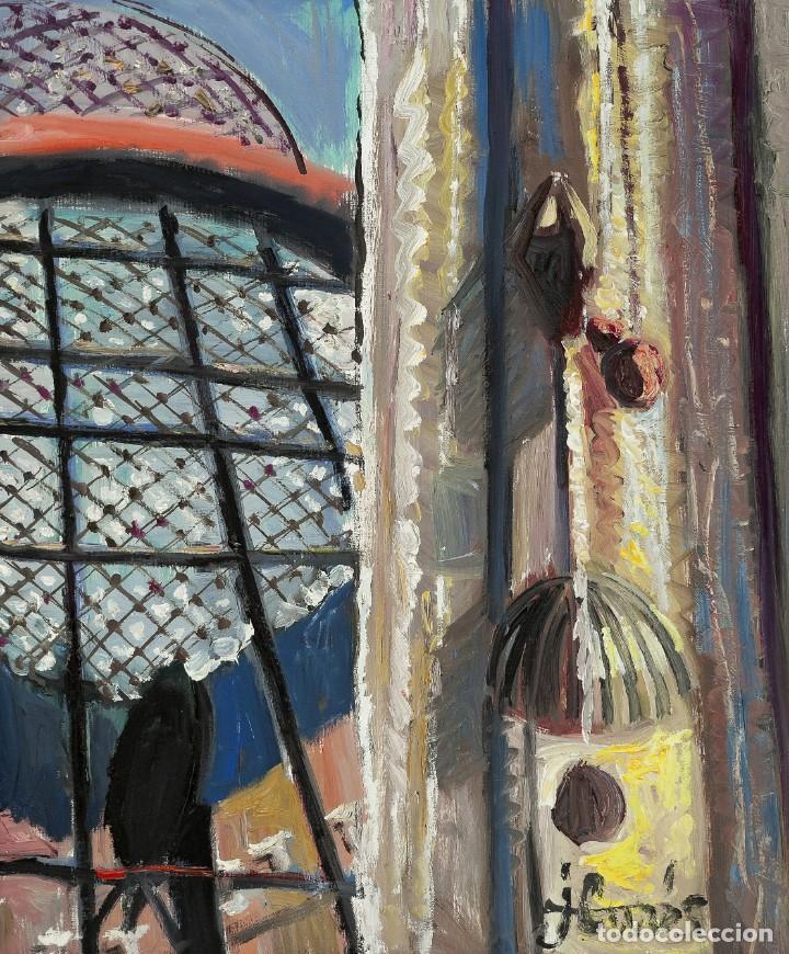 Arte: Jordi CURÓS VENTURA (OLOT 1930-2017), Homenaje a Dalí, Óleo sobre lienzo - Foto 2 - 143175878