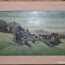 Arte: PAUL FOTSCH (1891-1964) - ÓLEO / TABLA - PAISAJE FECHADO EN 1957 - MEDIDAS: 34.5 X 60 CM.. Lote 143196926