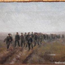 Arte: WILLY KAUFMANN (1920-1978) - ÓLEO / LIENZO - REGIMIENTO MILITAR - FECHADO EN 1945. Lote 143200014
