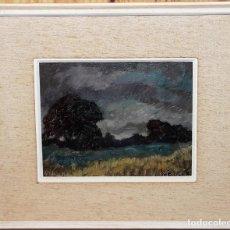 Arte: KARL BEUTLER (1904-1996) - ÓLEO / TÁBLEX - PAISAJE TITULADO Y FECHADO EN 1965. Lote 143201922