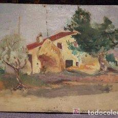 Arte: PAISAJE CASA PAYES OLEO SOBRE TABLA. Lote 143251150