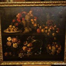 Arte: EXCEPCIONAL FLORERO DE FLORES Y FRUTAS, ESCUELA FLAMENCA S. XVIII. Lote 143331922