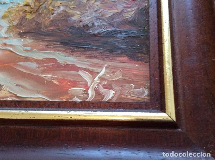 Arte: Lindissima paisage pintada a óleo sobre madera platex, sin fecha definida. Excel. precio de salida. - Foto 2 - 143338366