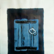 Arte: TECNICA MIXTA SOBRE PAPEL ILEGIBLE.. Lote 143351941