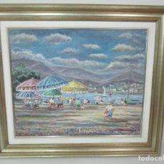 Arte: BONITA PINTURA - ÓLEO SOBRE TELA - MARINA - LLANÇÀ - MARSILLACH CODONY, JOAQUIM (OLOT 1905 - 1986). Lote 143366006