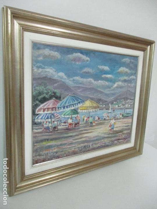 Arte: Bonita Pintura - Óleo sobre Tela - Marina - Llançà - Marsillach Codony, Joaquim (Olot 1905 - 1986) - Foto 2 - 143366006
