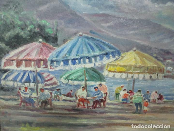 Arte: Bonita Pintura - Óleo sobre Tela - Marina - Llançà - Marsillach Codony, Joaquim (Olot 1905 - 1986) - Foto 4 - 143366006
