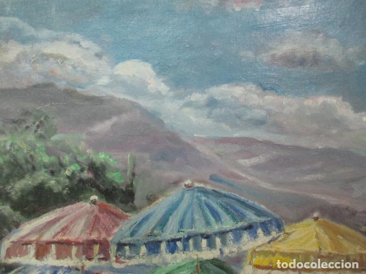 Arte: Bonita Pintura - Óleo sobre Tela - Marina - Llançà - Marsillach Codony, Joaquim (Olot 1905 - 1986) - Foto 5 - 143366006