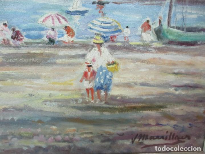 Arte: Bonita Pintura - Óleo sobre Tela - Marina - Llançà - Marsillach Codony, Joaquim (Olot 1905 - 1986) - Foto 6 - 143366006
