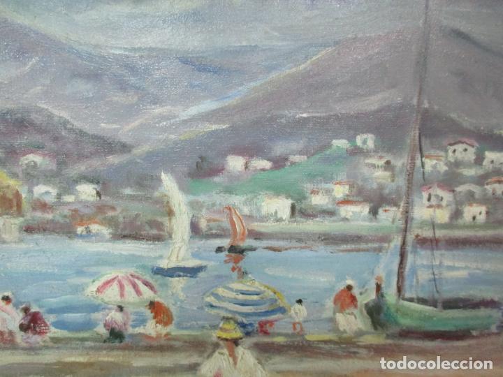 Arte: Bonita Pintura - Óleo sobre Tela - Marina - Llançà - Marsillach Codony, Joaquim (Olot 1905 - 1986) - Foto 7 - 143366006