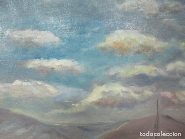Arte: Bonita Pintura - Óleo sobre Tela - Marina - Llançà - Marsillach Codony, Joaquim (Olot 1905 - 1986) - Foto 8 - 143366006