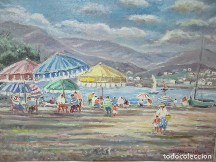 Arte: Bonita Pintura - Óleo sobre Tela - Marina - Llançà - Marsillach Codony, Joaquim (Olot 1905 - 1986) - Foto 9 - 143366006