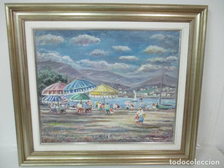Arte: Bonita Pintura - Óleo sobre Tela - Marina - Llançà - Marsillach Codony, Joaquim (Olot 1905 - 1986) - Foto 10 - 143366006