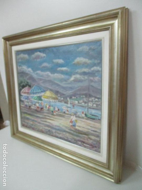 Arte: Bonita Pintura - Óleo sobre Tela - Marina - Llançà - Marsillach Codony, Joaquim (Olot 1905 - 1986) - Foto 11 - 143366006