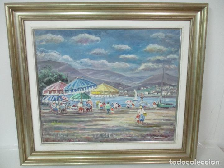 Arte: Bonita Pintura - Óleo sobre Tela - Marina - Llançà - Marsillach Codony, Joaquim (Olot 1905 - 1986) - Foto 13 - 143366006