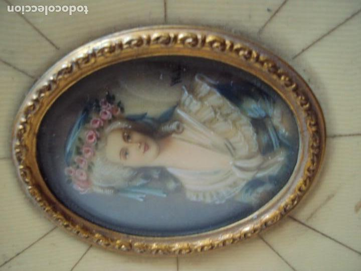 Arte: (ANT-181201)MINIATURA DE DAMA PINTADA SOBRE MARFIL MARCO ORIGINAL - FIRMADA - Foto 5 - 143403686