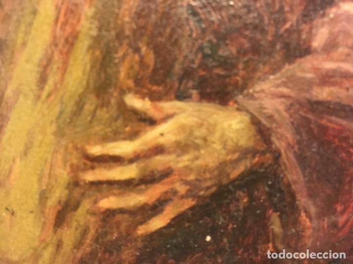 Arte: CRISTO. PEQUEÑO OLEO SOBRE TABLA - Foto 4 - 110198171