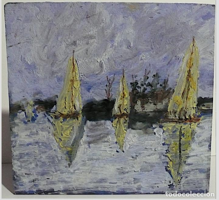 ESCUELA RUSA OLEO SOBRE TABLA FIRMADO (Arte - Pintura - Pintura al Óleo Contemporánea )