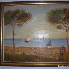 Arte: BONITA PINTURA PAISAJE AL OLEO SIN FIRMA AÑOS 60!!!!. Lote 143545962