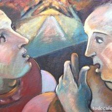 Arte: PARDO DE VERA, MARTA (A CORUÑA, 1948) LOS PASTORES (CAMINO DE SANTIAGO) TÉCNICA MIXTA SOBRE LIENZO. Lote 143578058