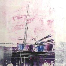 Arte: MANUEL SUÁREZ (A CORUÑA, 1972) HORIZONTE. TÉCNICA MIXTA SOBRE CARTULINA. Lote 143578766