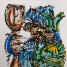 Arte: FERNANDO PEREIRA (A CORUÑA, 1959) PESCADOR. TÉCNICA MIXTA SOBRE CARTULINA. Lote 143582990