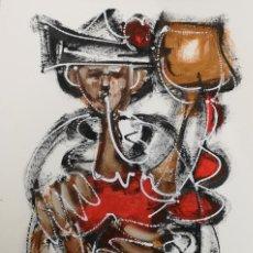 Arte: FERNANDO PEREIRA (A CORUÑA, 1959) GAITEIRO. TÉCNICA MIXTA SOBRE CARTULINA. Lote 143583294