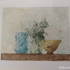 Arte: GARAIZÁBAL, JAVIER. (FERROL, A CORUÑA, 1944). BODEGÓN I. ÓLEO SOBRE PAPEL. Lote 143584474