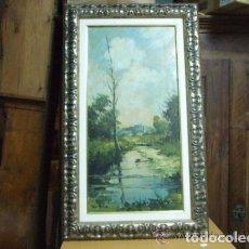 Arte: PAISAJE, OLEO SOBRE TABLEX, FDO. DE VILA. Lote 143611458