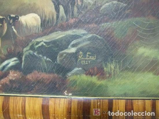 Arte: PAISAJE OLEO SOBRE TELA , J. FONT ,1927 - Foto 3 - 143618102