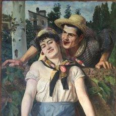 Arte: FRANCISCO CASANOVA GORCHS (1853-1924) PINTOR ESPAÑOL - ÓLEO SOBRE TELA. Lote 143634758