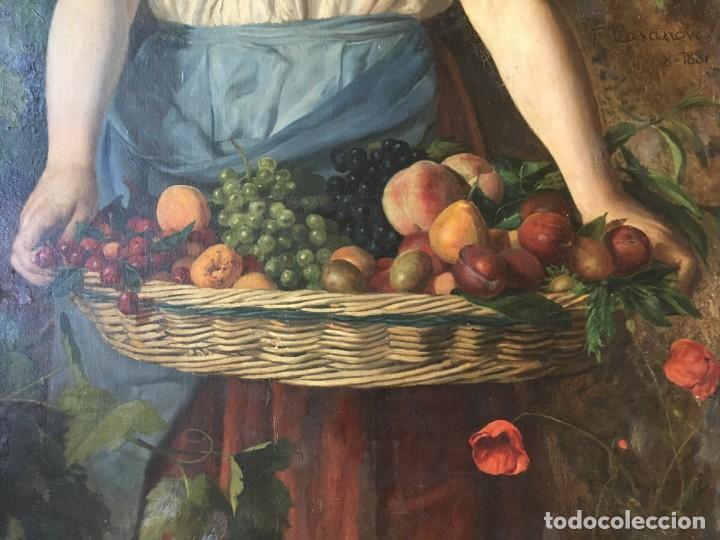 Arte: Francisco Casanova Gorchs (1853-1924) Pintor Español - Óleo sobre tela - Foto 5 - 143634758