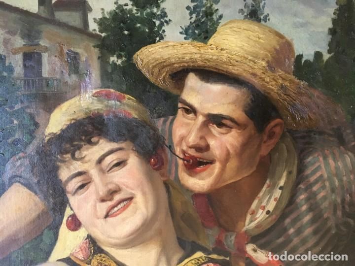 Arte: Francisco Casanova Gorchs (1853-1924) Pintor Español - Óleo sobre tela - Foto 7 - 143634758