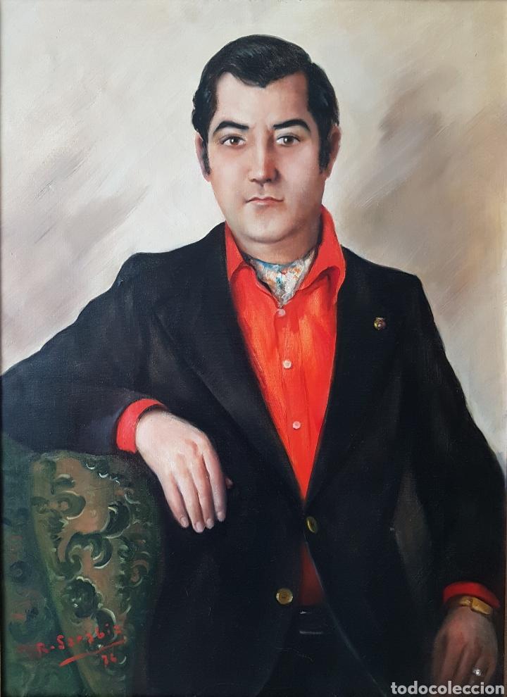 RAFAEL SARABIA-BENITEZ Y RUIZ DE ESQUIVE (BARCELONA, 1908- ?) - CABALLERO.OLEO/TELA.FIRMADO.1974. (Arte - Pintura - Pintura al Óleo Contemporánea )