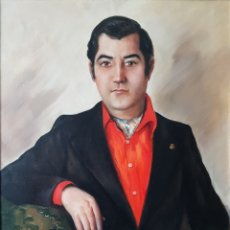 Arte: RAFAEL SARABIA-BENITEZ Y RUIZ DE ESQUIVE (BARCELONA, 1908- ?) - CABALLERO.OLEO/TELA.FIRMADO.1974.. Lote 143653612