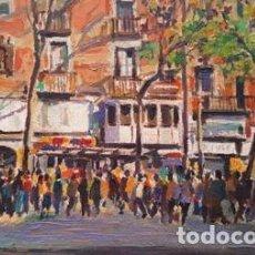 Arte: PINTURA OLEO SOBRE TELA - BCN - DE JOSEP MARFA GUARRO - Nº1 C -. Lote 143665842