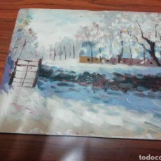 Arte: ÓLEO PINTADO A MANO 25X20 AUTOR DESCONOCIDO. Lote 143669524