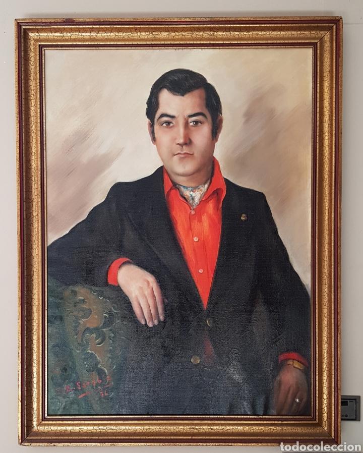 Arte: Rafael Sarabia-Benitez y Ruiz de Esquive (Barcelona, 1908- ?) - Caballero.oleo/tela.Firmado.1974. - Foto 2 - 143653612
