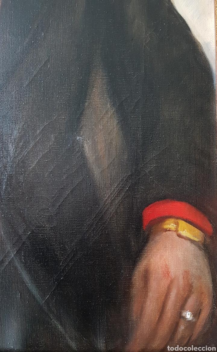 Arte: Rafael Sarabia-Benitez y Ruiz de Esquive (Barcelona, 1908- ?) - Caballero.oleo/tela.Firmado.1974. - Foto 6 - 143653612
