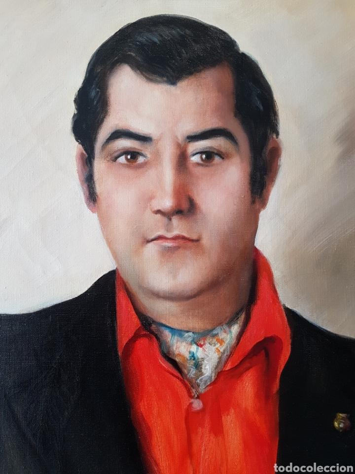 Arte: Rafael Sarabia-Benitez y Ruiz de Esquive (Barcelona, 1908- ?) - Caballero.oleo/tela.Firmado.1974. - Foto 7 - 143653612