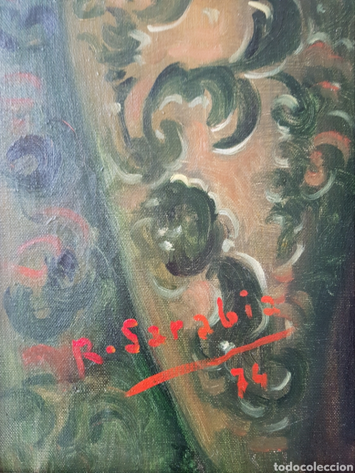 Arte: Rafael Sarabia-Benitez y Ruiz de Esquive (Barcelona, 1908- ?) - Caballero.oleo/tela.Firmado.1974. - Foto 9 - 143653612