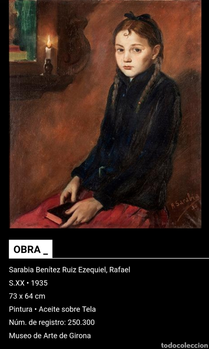 Arte: Rafael Sarabia-Benitez y Ruiz de Esquive (Barcelona, 1908- ?) - Caballero.oleo/tela.Firmado.1974. - Foto 10 - 143653612