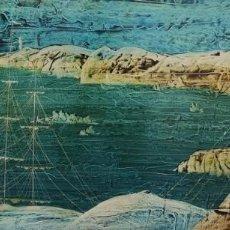 Arte: LUGRIS VADILLO , URBANO . (VIGO,1942 - A CORUÑA,2018). LA RIA. ÓLEO SOBRE TABLA.. Lote 143691218